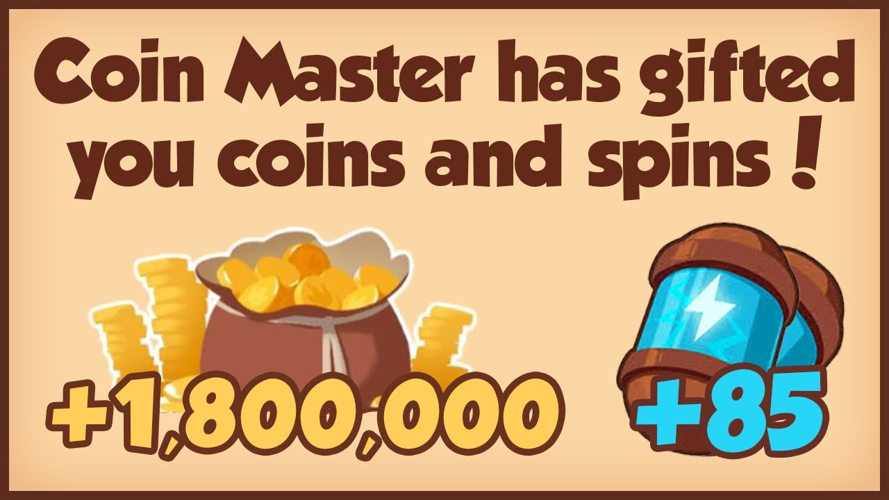 COIN MASTER FREE 85 SPINS + 1.8M COINS 26.02.2021