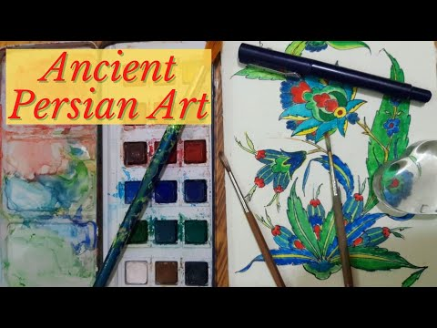 Draw Ancient Persian Art   unique Iranian Art   Persian Art Patterns   Easy Painting Designs  