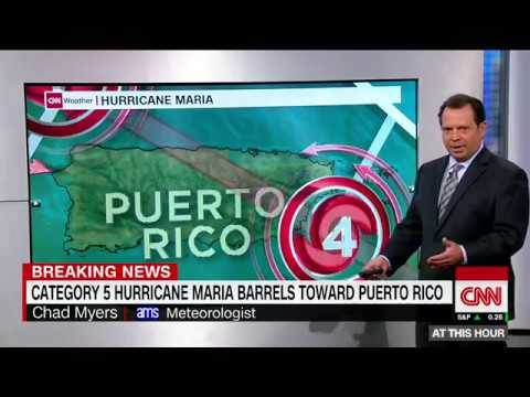 Category 5 Hurricane Maria heads toward Puerto Rico