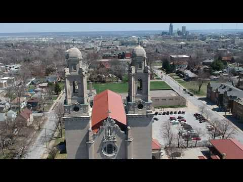 0576 Flight 2 - Omaha Architecure flight -  St. Cecilia Cathedral 1080p HD Rate 93