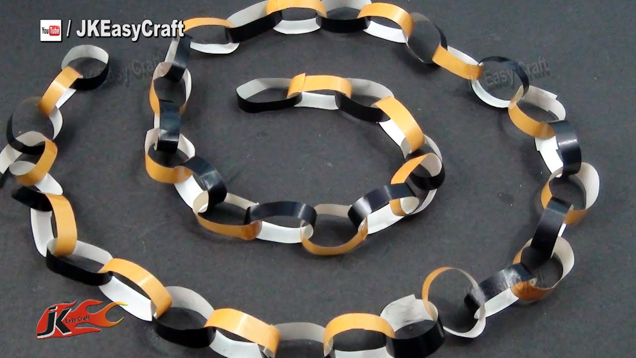 Easy Paper Party Decorations Paper chain garland How to make