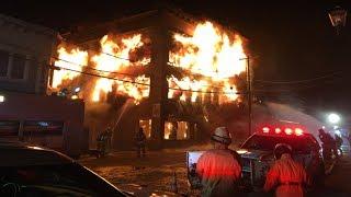 Fire destroys historic building in Magog