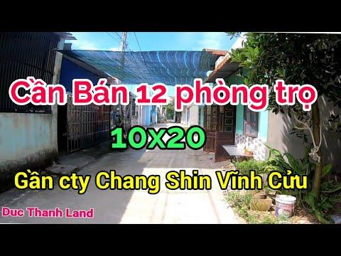 Khảo sát thực tế dãy nhà trọ cần bán có 12 phòng trọ gần cty Changshin KCN Thạnh Phú, Vĩnh Cửu