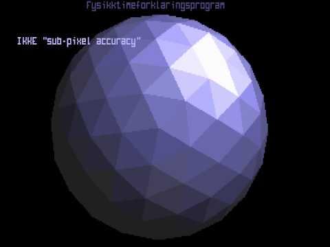 Sub-pixel accuracy