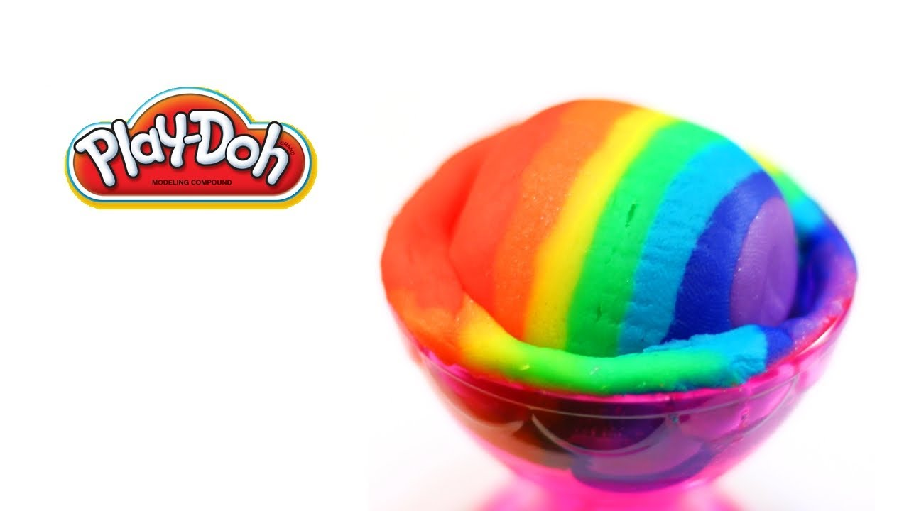 playdoh rainbow ice cream scoop