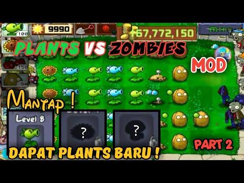 Mantap Cuy Dapat 3 Plants Baru | Plants Vs Zombies Mod - Part 2