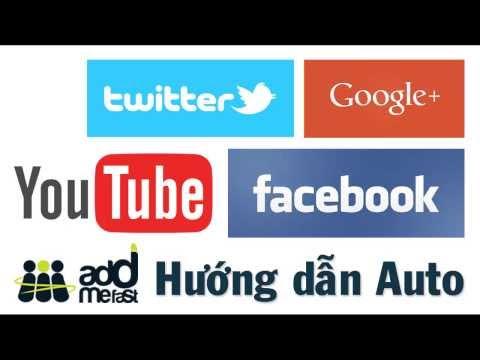 Cách tăng Like, View, Share trên Facebook, Youtube, Google+ miễn phí