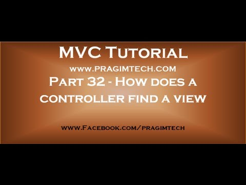 Part 32How does a controller find a view in mvc