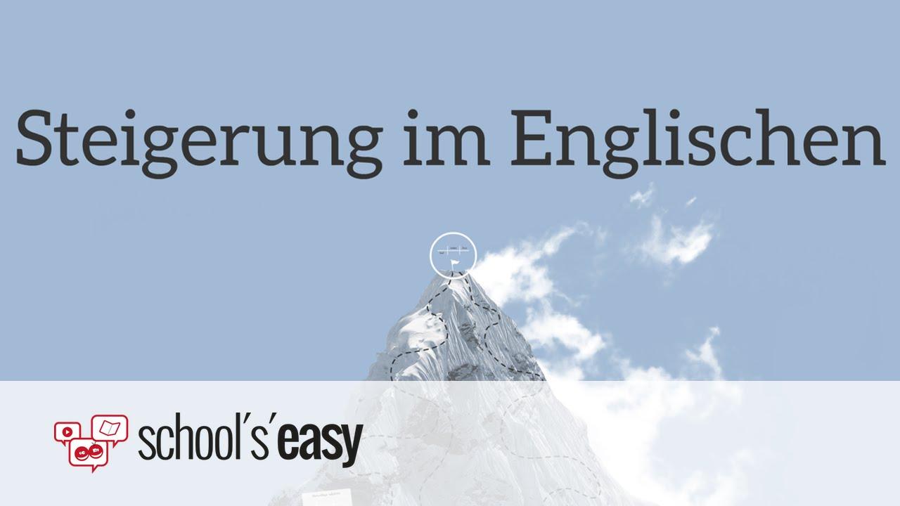 steigerung von adjektiven englisch