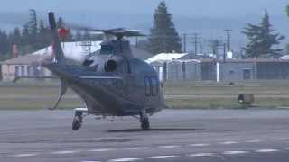 2008 Agusta Helicopter A109S takes off from HWD N621SC