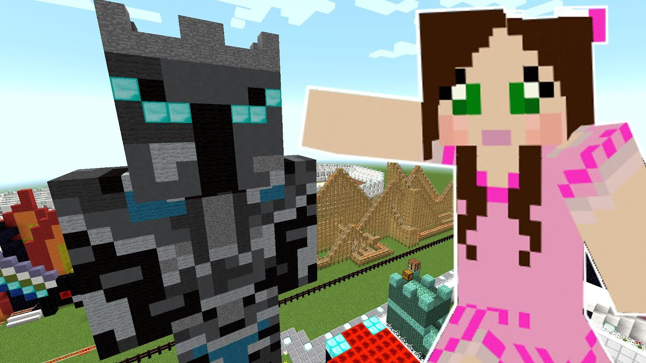 Minecraft My Giant Statue Popularmmos Theme Park 1
