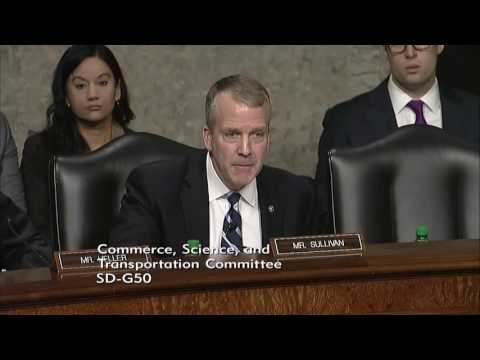 Sen. Dan Sullivan (R-AK) at a Senate Commerce, Science & Transportation Hearing - January 18, 2017