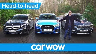 BMW X1 vs Mercedes GLA vs Audi Q3 2017 SUV review | Mat Watson Reviews