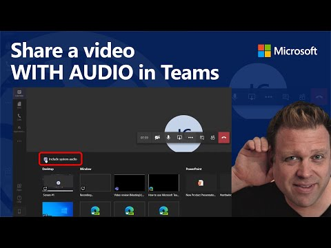 Sharing a video WITH AUDIO in a Microsoft Teams online meeting
