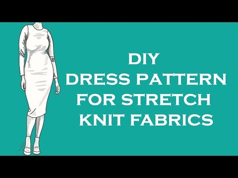 Making a block pattern for stretch knit fabrics
