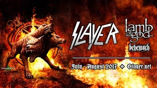 SLAYER - Summer Tour 2017 w/ Lamb of God, Behemoth (OFFICIAL TOUR TRAILER)