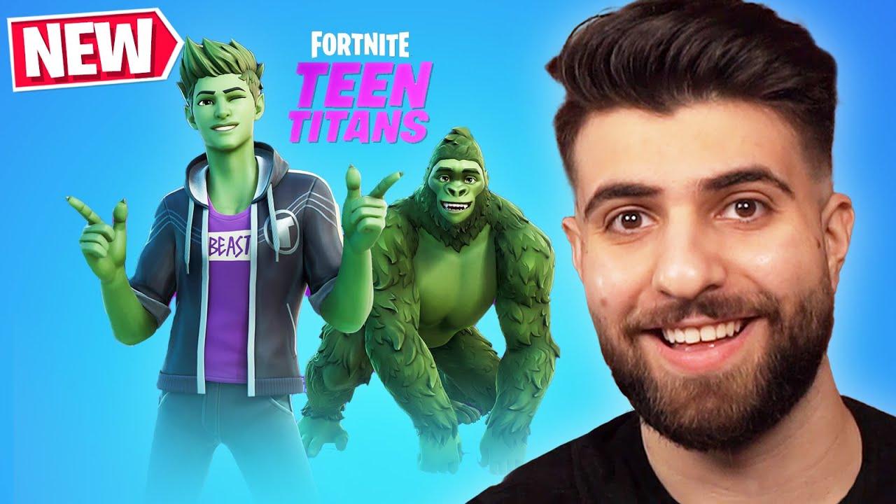 TEEN TITANS in Fortnite! (Beast Boy Tournament Announced!)