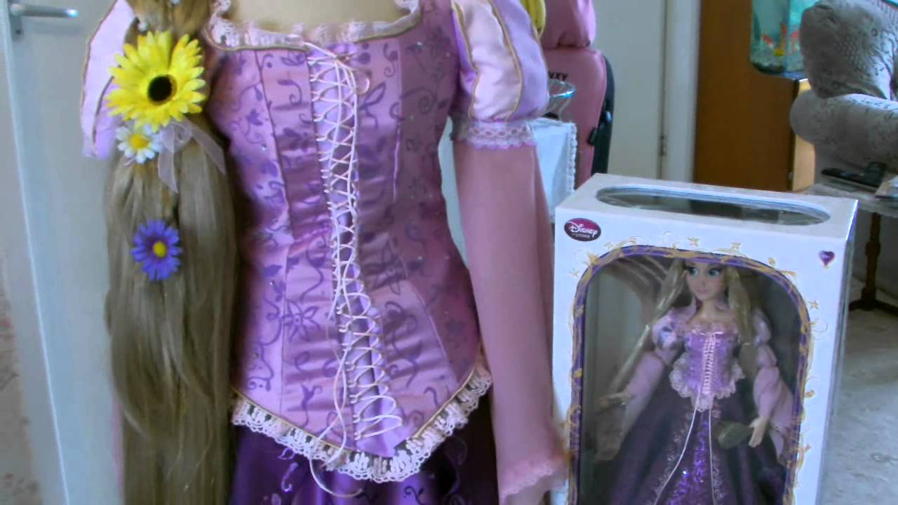 & Disney Rapunzel Costume Tutorial Part 6 Final Result - YouTube