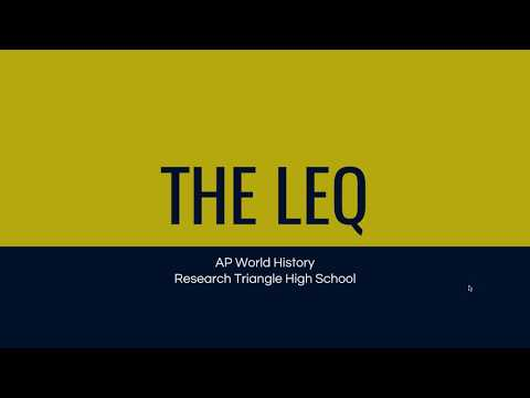 Introduction to the LEQ