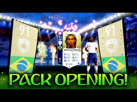 *WORLD CUP* ICON RONALDINHO IN A PACK! FUT 18 WORLD CUP PACK OPENING