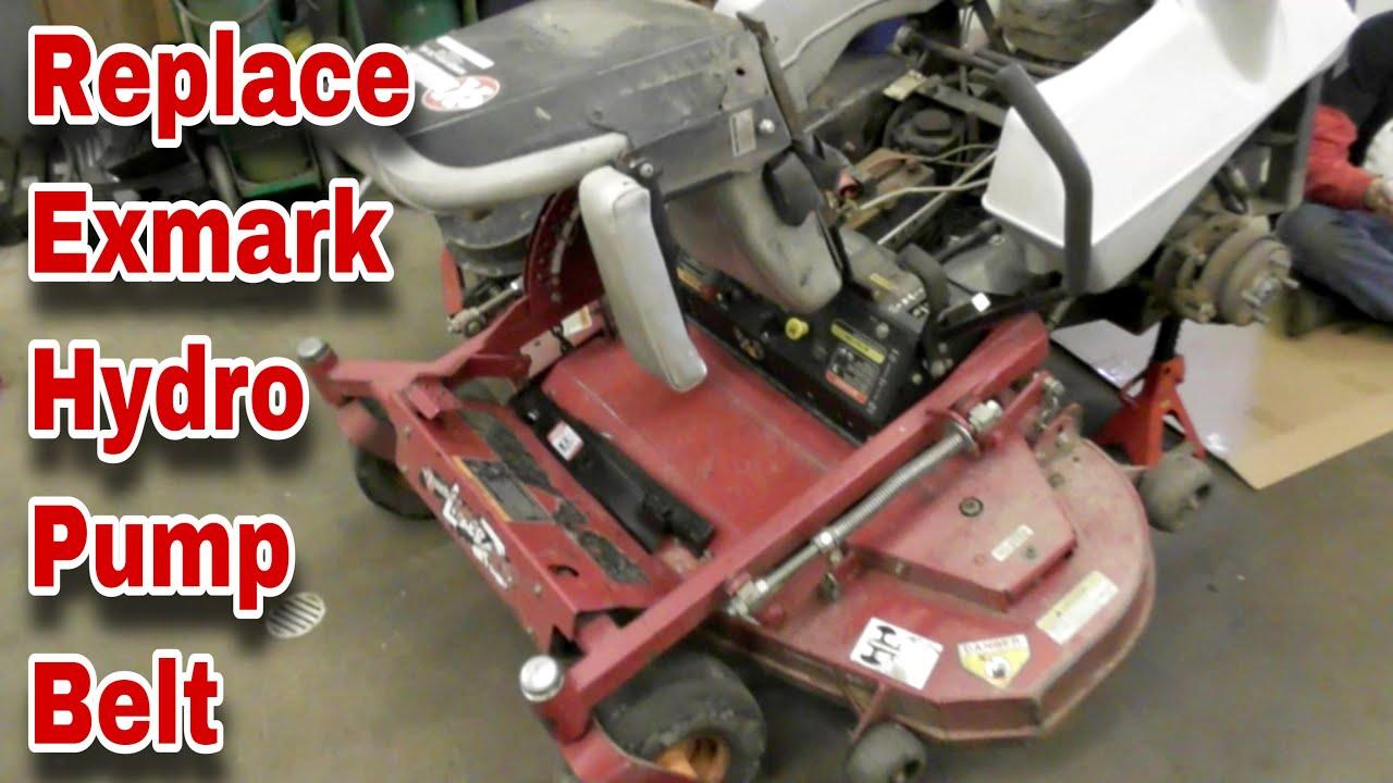 medium resolution of how to change the hydro pump belt on an exmark lazer z zero turn mower with taryl