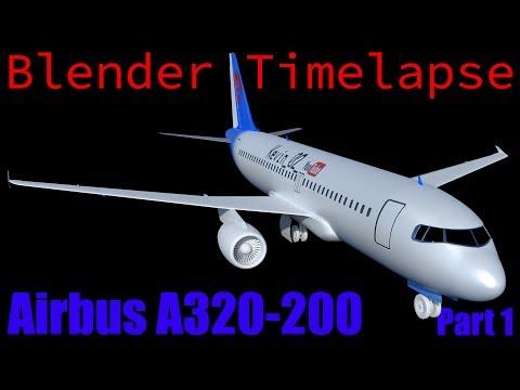 Blender Timelapse - Airbus A320-200 Plane | Part 1