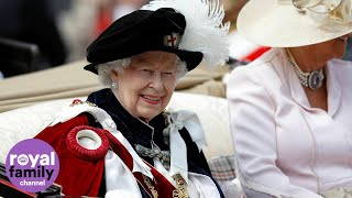 The Queen and European royals attend Order of the Garter service at Windsor Castle