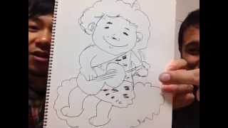 小川拓也がなんでも描きます。即興お絵かきです。かかって来いや!