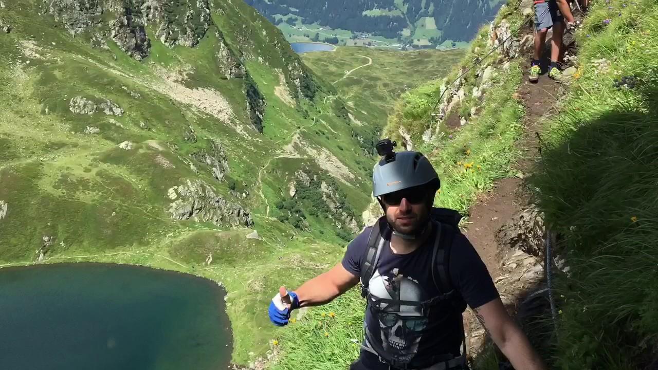 Klettersteig Hochjoch : Hochjoch klettersteig montafon youtube