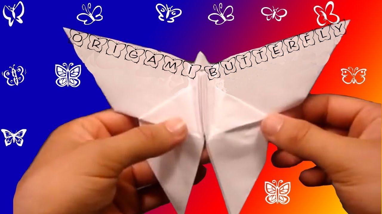 How to make an origami butterfly youtube how to make an origami butterfly robs world jeuxipadfo Image collections