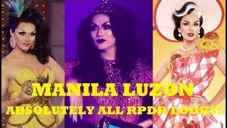 Manila Luzon - Absolutely ALL Looks on RPDR EVER! | Runway + All Other Looks | S3, AS1 & AS4