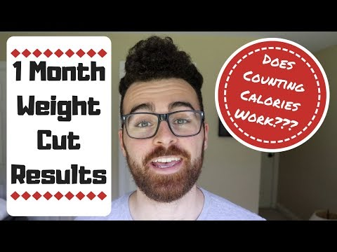 Does Counting Calories Work? 1 Month Weight Cut Results!