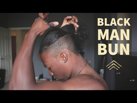 High Fade Hair Cut  | Natural Hair Black Man Bun Tutorial | Unboxing Sony a6300