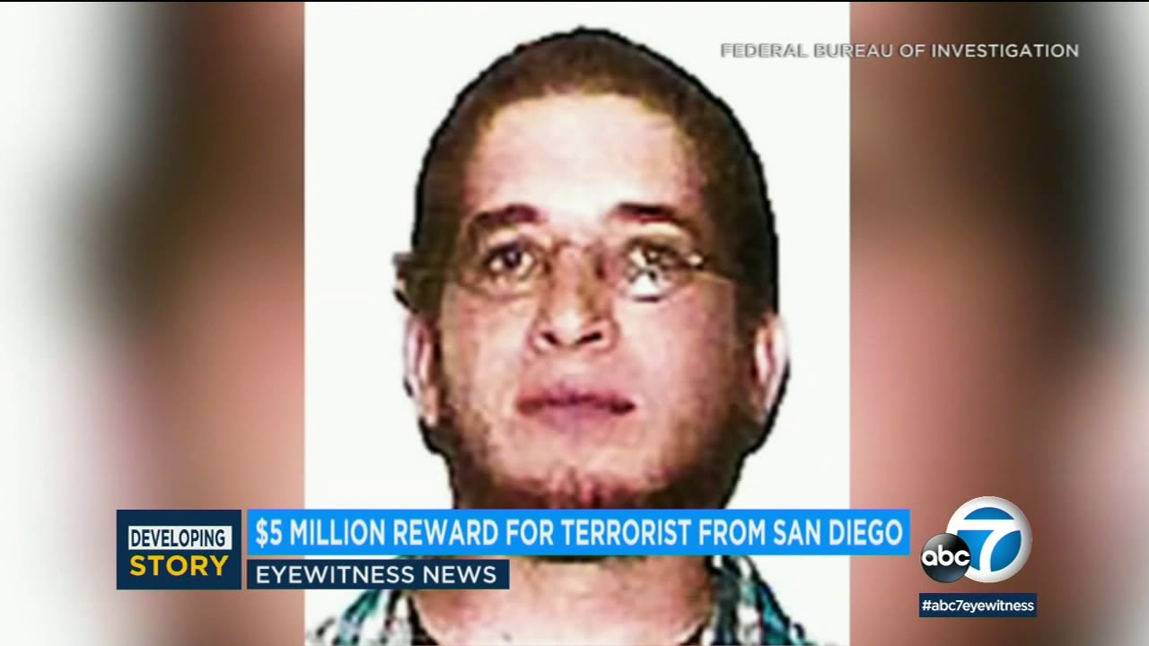 San Diego man on FBI's Most Wanted Terrorist List faces new charges, $5M reward offered | ABC7