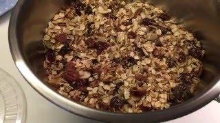 MЮСЛИ или ГРАНОЛА с семенами льна.Flaxseed granola