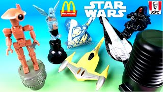 DISNEY STAR WARS McDonald's Happy Meal Toy Vs RARE KFC 1999 Episode 1 Full Set 6 Collection Review