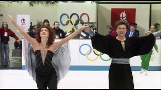 [HD] Marina Klimova and Sergei Ponomarenko - 1992 Albertville Olympic - Free Dance