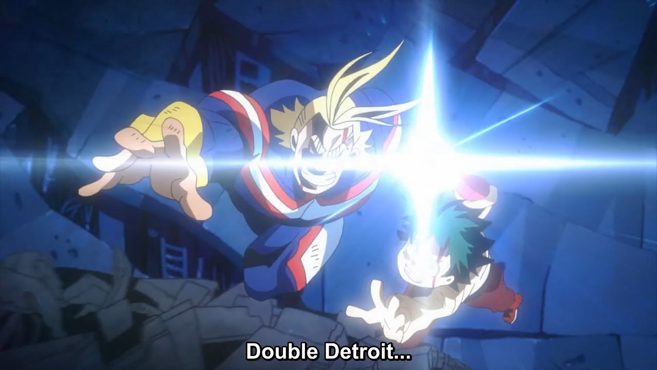 Download My Hero Academia Two Heroes - The Final Battle Midoriya With All Might Vs Wolfram Best Momemnt