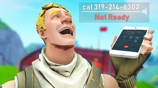 so I put my PHONE NUMBER in my Fortnite name and got the FUNNIEST calls (Fortnite)
