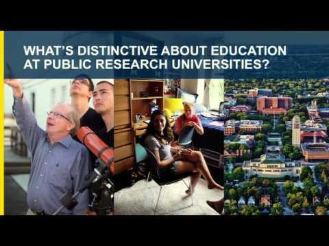 Undergraduate Education in the Public University Symposium Keynote Speaker March 10, 2016