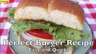 Perfect Cheese Burger Recipe (Easy & Quick)- BenjiManTV