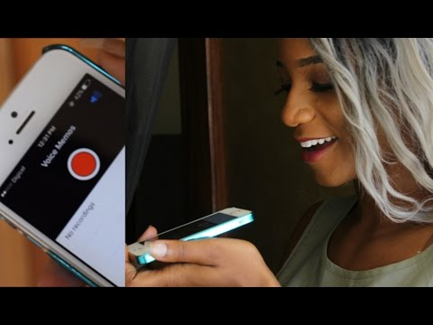 How to do Voice Overs with an Iphone for Youtube Videos  | Annesha Adams