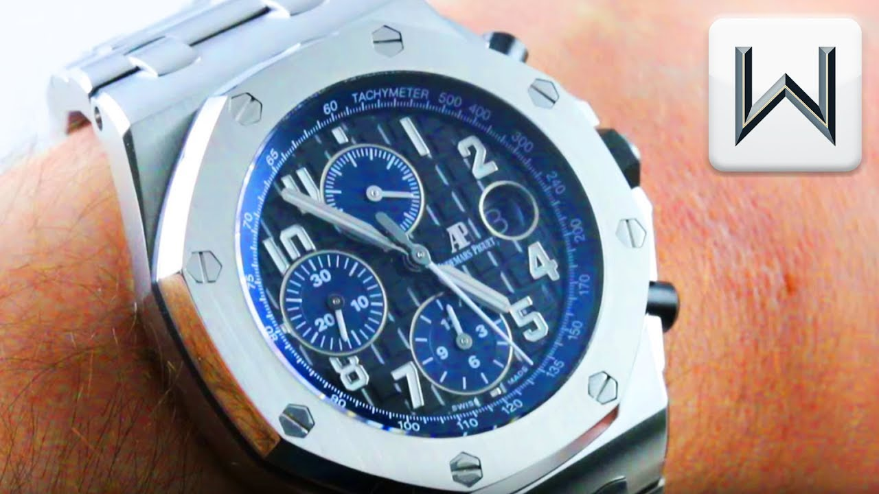 b37ac4b3cb23 Audemars Piguet Royal Oak Offshore Full Bracelet Chronograph 26470ST.OO. A028CR.01 Watch Review
