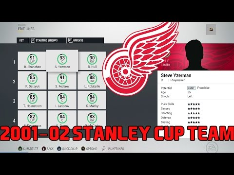 2001-02 Detroit Red Wings Stanley Cup Winning Team in NHL 17