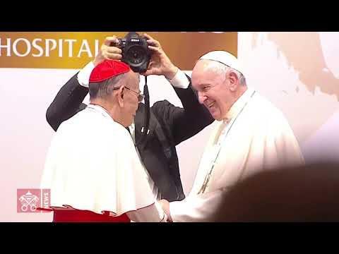 Pope Francis, Thailand. Visit to the St. louis Hospital in Bankok. 2019 11 21