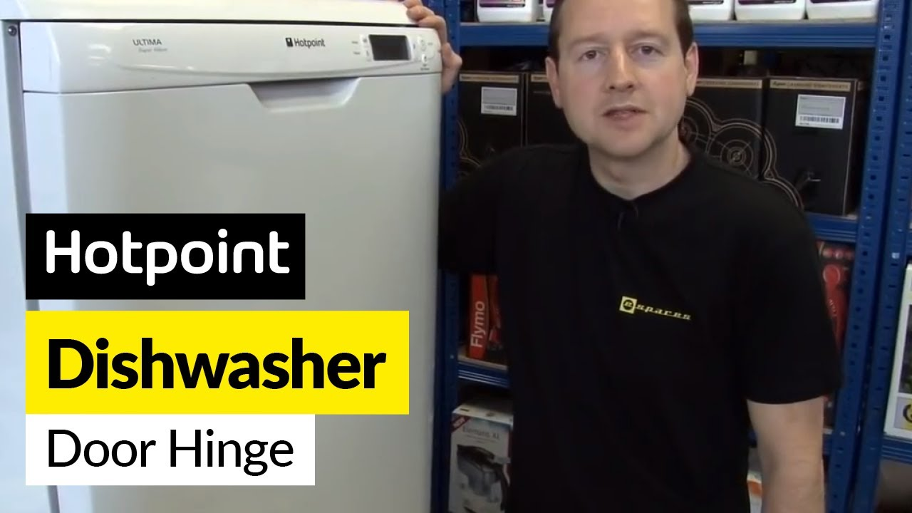 How to Replace a Dishwasher Door Hinge Lever on a Hotpoint Dishwasher - YouTube & How to Replace a Dishwasher Door Hinge Lever on a Hotpoint ...