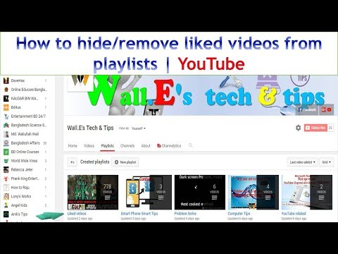 How to hide/remove liked videos from playlists | YouTube | Very Easy steps