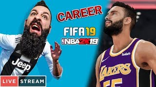 🔴 NBA 2K19 & FIFA 19 CAREER LIVESTREAM! | TechItSerious