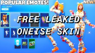 *FREE* HOW TO GET ONESIE SKIN FOR FREE IN FORTNITE BATTLE ROYALE! (LEAKED PAJAMA SKIN FOR FREE)