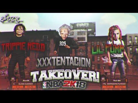 lil-pump-x-xxxtentacion-x-trippie-redd-@-nba-2k18-mypark-😱-|-rappers-collab-@-the-playground